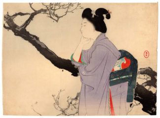 Mizuno Toshikata BEAUTY AND PLUM TREE