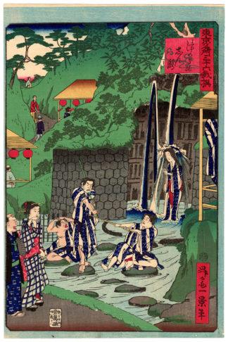 Shosai Ikkei TSUNOKAMI WATERFALLS