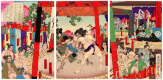Utagawa Toyonobu THE 36 SUMO MATCHES OF ROKUSUKE