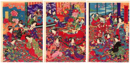 Toyohara Chikanobu CELEBRATING THE FLOWERS BLOOMING