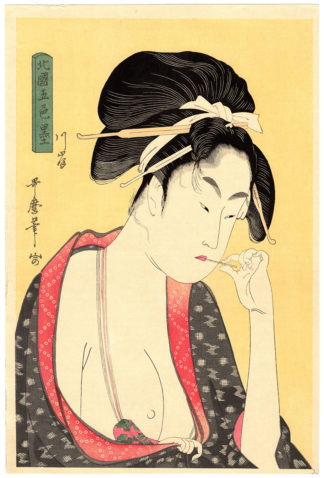 Kitagawa Utamaro ON THE RIVER BANK