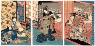 Utagawa Kuniteru PRINCE GENJI IN A SNOWY DAY