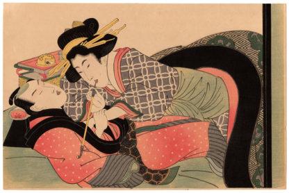 Kikukawa Eizan LOVERS AND KISERU