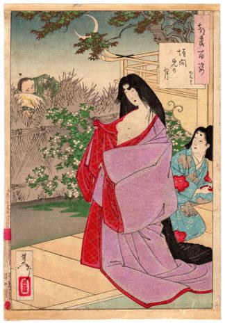 A GLIMPSE OF THE MOON (Tsukioka Yoshitoshi)