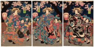 FLOWERS OF THE KINPEI DAIKOKU HOUSE (Utagawa Kunihisa II)