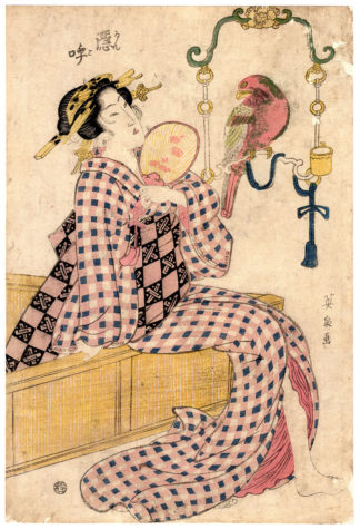 BEAUTY AND PARROT (Keisai Eisen)