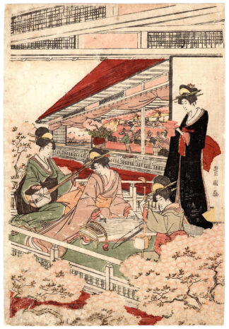 DOLL FESTIVAL AT THE FOOT OF MOUNT IMO (Utagawa Toyokuni)