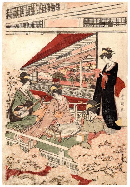 DOLL FESTIVAL AT THE FOOT OF MOUNT IMO (Utagawa Toyokuni)