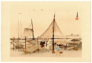 MOUNT FUJI AND FISHING NETS (Ogata Gekko)