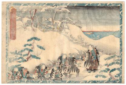 THE RONIN AT THEIR MASTER'S GRAVE (Utagawa Kunisada)