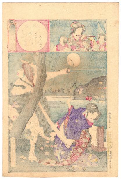 PRINCESS NADESHIKO AND THE ROBBER TSUCHIKURO (Toyohara Chikanobu)