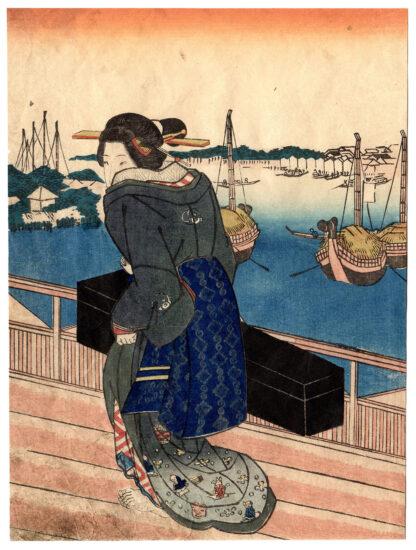 GEISHA OF FUKAGAWA (Utagawa Kuniyoshi)