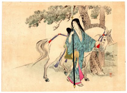 FEMALE WARRIOR AND WHITE HORSE (Takeuchi Keishu)