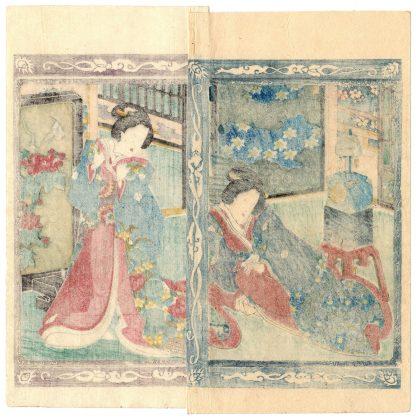 LADIES AND CLOCK (Koikawa Shozan)